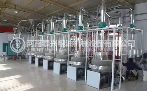 6组石磨面粉机设备