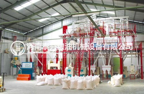 80吨级钢架式面粉机组