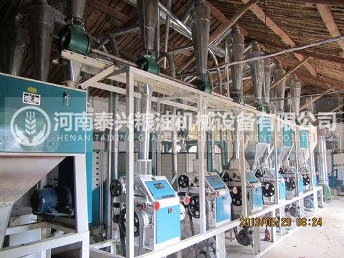 河南开封30吨面粉机安装案例