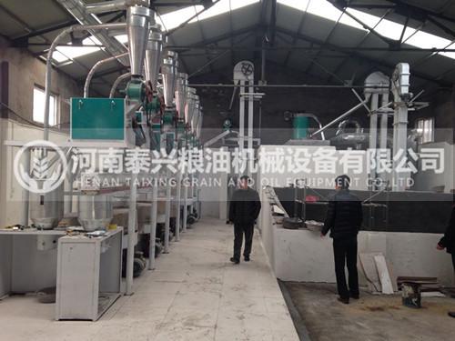 河南郑州10吨石磨面粉机安装案例