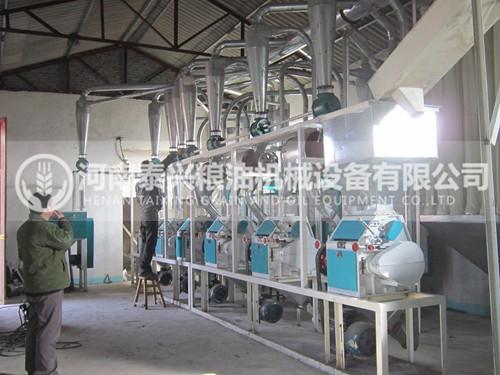 洛阳30吨面粉机安装案例