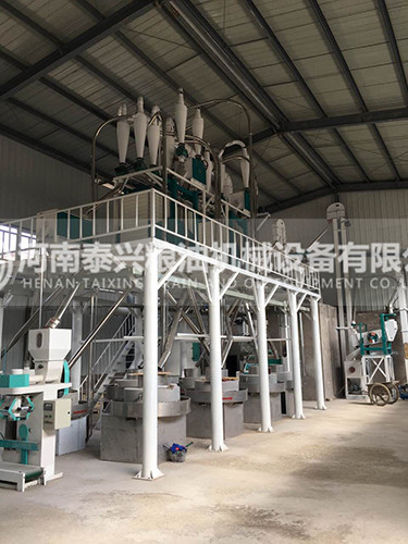 延安8组石磨面粉机械设备安装案例