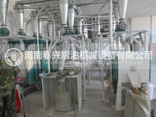 内蒙古10吨石磨面粉机安装案例