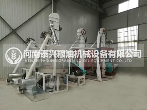 甘肃天水两组石磨面粉机安装案例