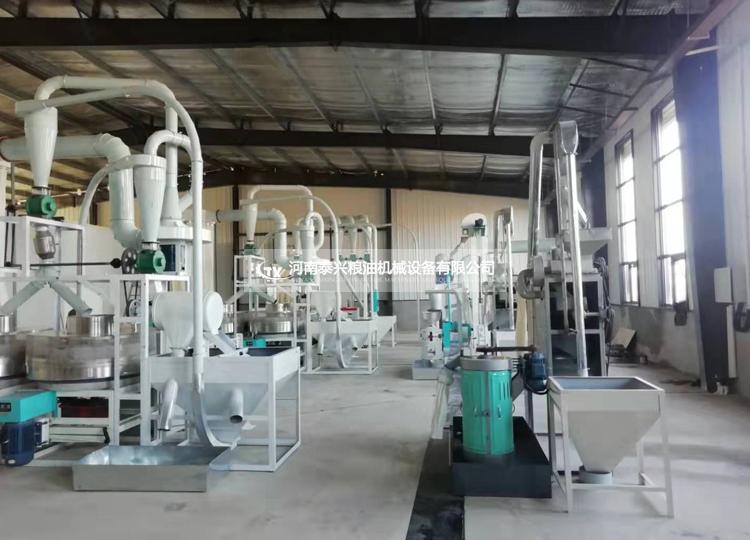 河北衡水2组石磨面粉机成功案例